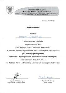 Umowy cywilnoprawne związane z wykorzystaniem Internetu i wzorców umownych