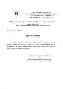 Uniwersytet Medyczny w Białymstoku - błąd medyczny w aspekcie odpowiedzialności prawno-karnej lekarza